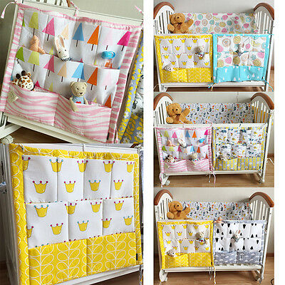 Baby Bed Hanging Storage Bag Crib Organizer Toy Diaper Pocket for Cradle Bedding