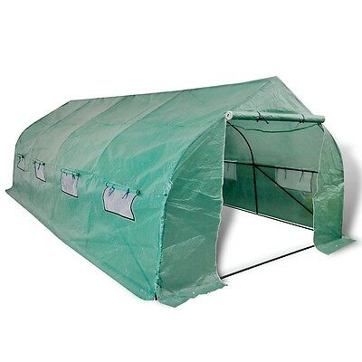 Garden Greenhouse Walk-in Hot Plant House Polytunnel 6x3m Flower Shed Waterproof