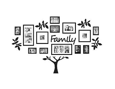 WallVerbs 19-Piece Family Tree Set Photo Frame Home Decor Wall Picture Art
