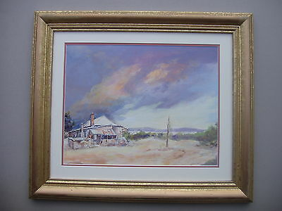 Donald Cameron Town House  Framed Watercolour Painting.