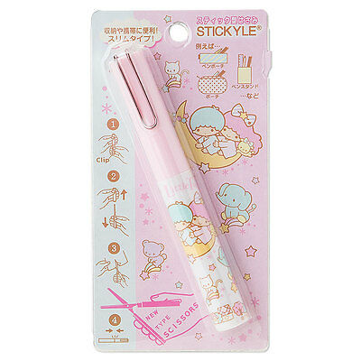 Sanrio Little Twin Stars Stickyle Pen-Style Portable Scissors (Pink) Reg Ship
