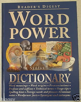 Word Power Dictionary  Readers Digest   Hardcover