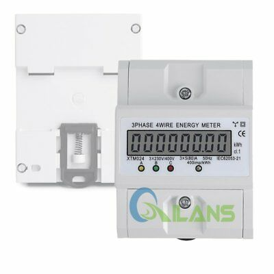 AU Three-phase Four-wire Meter Kilowatt Hour Meter LCD Display 50-60Hz 400V(80A)