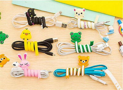 Fashion Cute Cartoon Earphone Winder Cable Cord Organizer Holder For Iphone Mp5