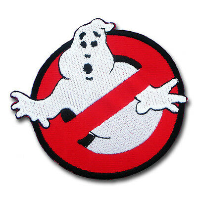 """Ghostbusters Movies No Ghost Logo Embroidered Iron Sew On Patch 3.8""""X3.5"""""""