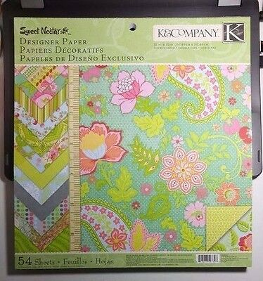 K&Company Sweet Nectar Designer Paper Pad 54 pages Double Sided OVER 2 lb paper!