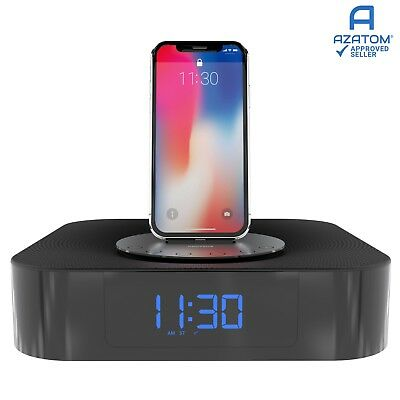 iPhone Radio Docking Station Speaker Alarm iPad iPod Bluetooth MoreAudio Proteus