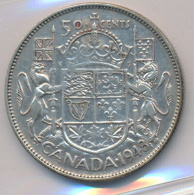 Canada 50 Cents 1948 - ICCS VF-20