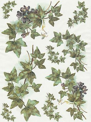 Rice Paper for Decoupage Decopatch Scrapbook Craft Sheet Vintage Ivy