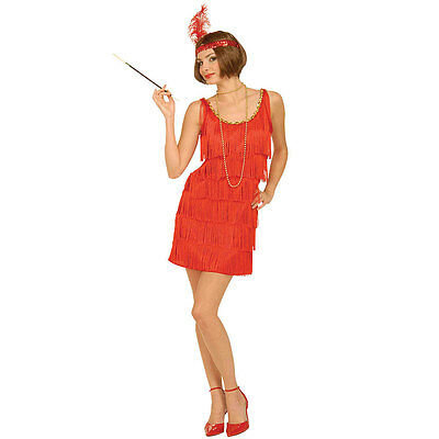 NEW Roaring 20s Red Flapper Girl Halloween Costume With Dress & Headpiece XL