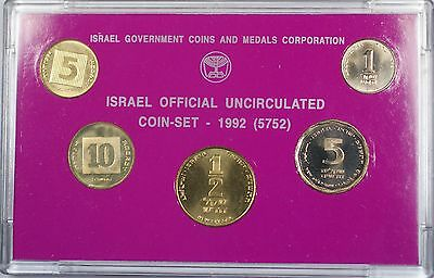 1992 Coins of Israel Official Brilliant Uncirculated 5 Piece Set