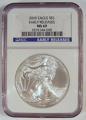 NGC MS69 EARLY RELEASES 2010 American Silver Eagle!!  NICE COIN!!  TAKE A LOOK!!