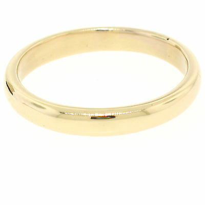 14K Yellow Gold Tiffany & Co. 3.75mm Dome Comfort Fit Wedding Band Ring 5.65g