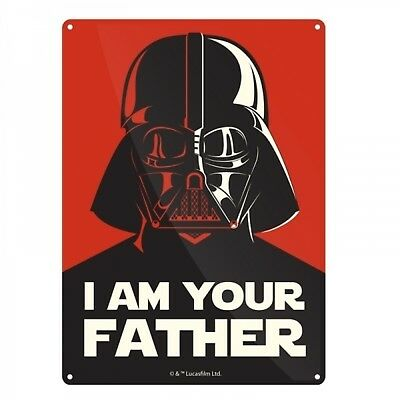 Blechschild Star Wars Darth Vader in 15x20 cm Metallschild I am Your Father