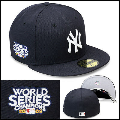 8b9b0680082 New Era New York New York Yankees Fitted Hat Cap 2009 World Series  Champions MLB