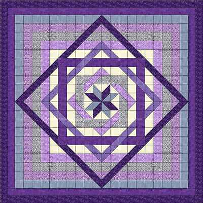 LABYRINTH in Lovely LAVENDERS Quilt Top - Not Quilted, Machine Pieced
