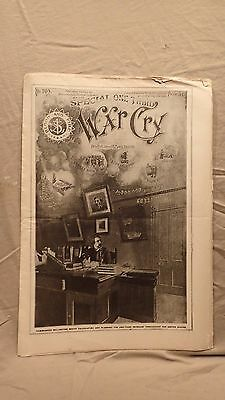 1895 SALVATION ARMY WAR CRY Historical Antique Newspaper Magazine William Booth