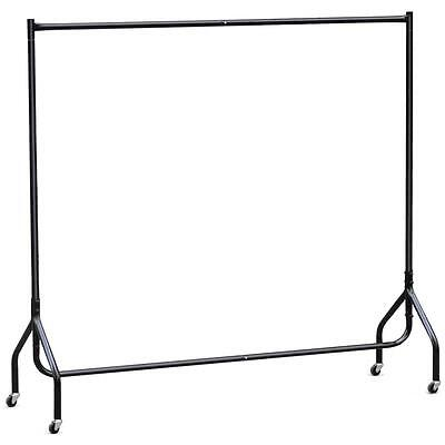 Heavy Duty 5ft Strong Clothes Rail Metal Garment Hanging Rack Home Market Displa