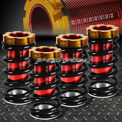"1-4""lowering Scaled Suspension Coilover Black Spring For 88-00 Civic Eg Ej Ek/dc"