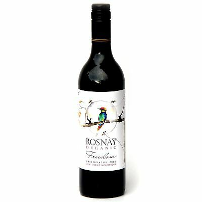 6 X Rosnay Freedom Preservative Free Organic Shiraz Mourvedre 2016