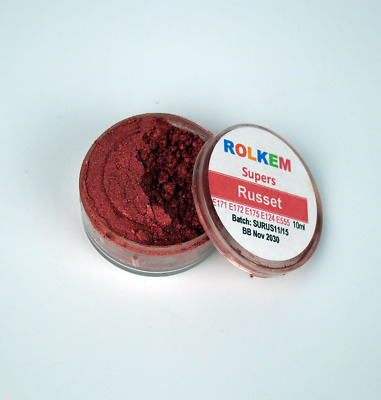 Russet  Edible Lustre Dust- Rolkem Supers - Cake Decorations