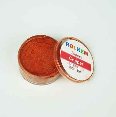 Copper  Edible Lustre Dust- Rolkem Supers - Cake Decorations