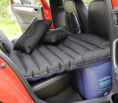 Heavy Duty Car SUV Travel Inflatable Mattress Back Seat Camping Air Bed w Pump