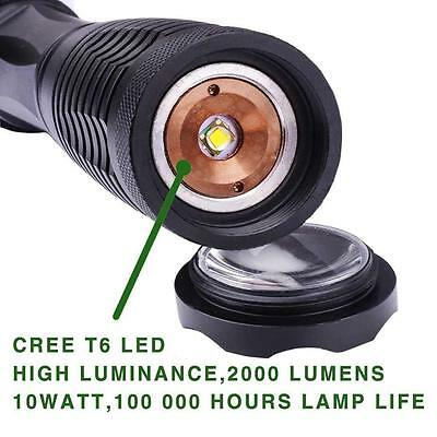 UltraFire LED 3000lm CREE XM-L T6 Flashlight Torch+18650 Battery+Charger+Holster