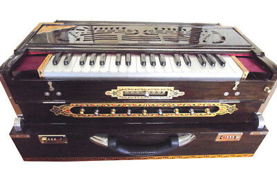 BEAUTIFUL  KOLKATA 9 SCALE CHANGER PROFESSIONAL HARMONIUM w TOP PALATINA REEDS