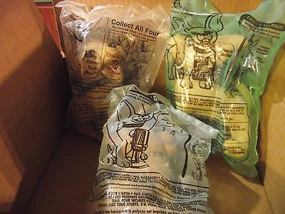 Lot of 3 Taco Bell Talking Chihuahua Stuffed Toys Sealed