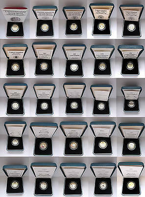 1983 to 2007 Silver Proof £1 One Pound Royal Mint; choose your date cased + COA