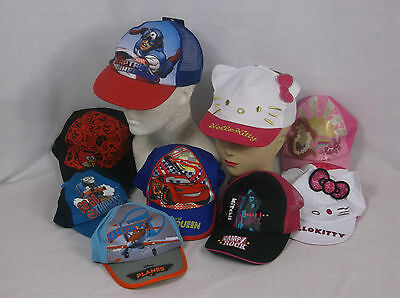 Job Lot of 20 Boys Girls Branded Baseball Caps New Official Licenced Caps Lot 1