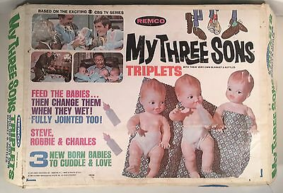 1969 Remco My Three Sons Triplets Dolls (Boxed)
