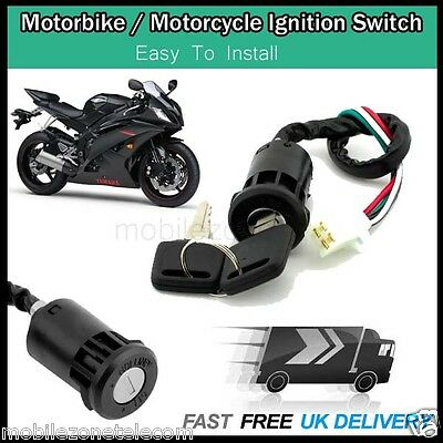 Universal Motorcycle Motorbike Quad Scooter Ignition On Off Switch With Key UK