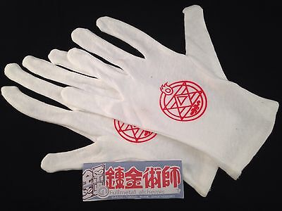Fullmetal Alchemist Brotherhood Roy Mustang Gloves Anime Cosplay Edward Elric