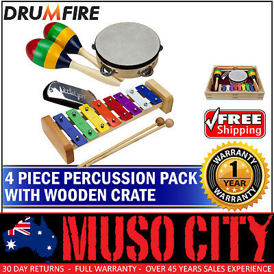 New Drumfire 4-Piece Educational Hand Percussion Pack