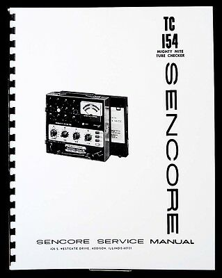 Sencore TC-154 TC154 Mighty Mite Tube Tester Manual
