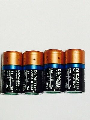 4x Duracell CR123A Ultra lithium battery SAME DAY SHIPPING