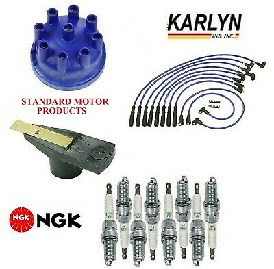 Ignition Kit Distri.Cap Rotor Plugs Wire for Land Rover Discovery 1994-1995