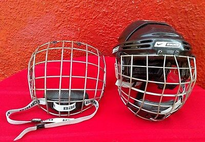Bauer Hocket Lacrosse Helmet & 2 Face Guard Adult size Small NBH5500 ✞