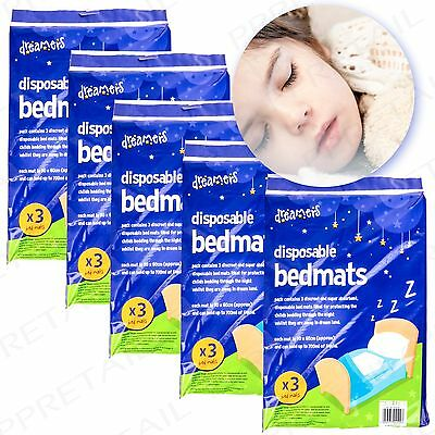 5 PACKS HIGHLY ABSORBENT Disposable Bed Mats Protects Mattress Cot Wetting Pads