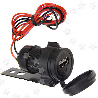 Motorcycle 12V to 5V USB Mobile Phone Charger Power Adapter Socket Waterproof