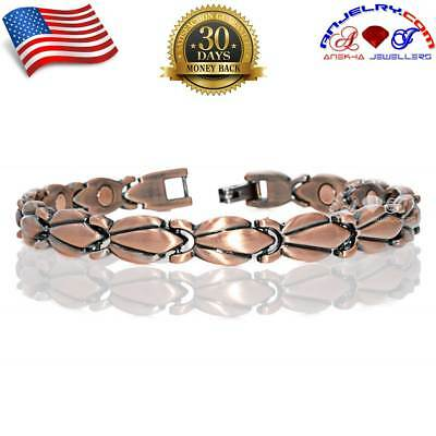 Attractive Women Copper Magnetic Golf Bracelet Arthritis Therapy A171