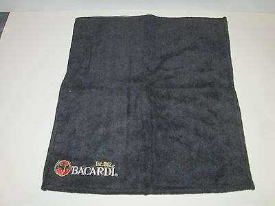 "Bacardi Rum Distillery Liquor Bat Logo Bar Towel Embroidered Design 14.5""x17"""