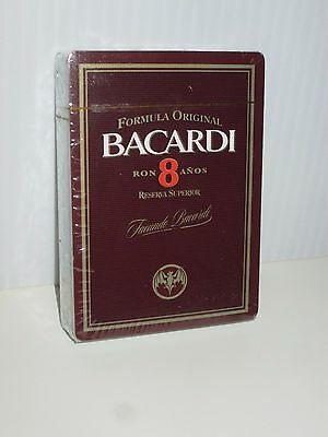 Bacardi Rum Distillery Liquor Bottle Bat Logo Deck Playing Cards