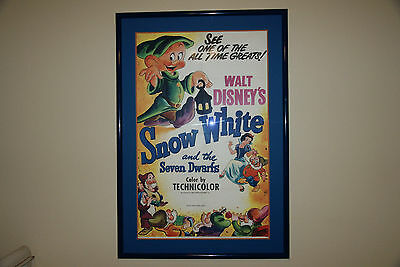 Snow White And The Seven Dwarfs Original Movie Poster 1951 Framed