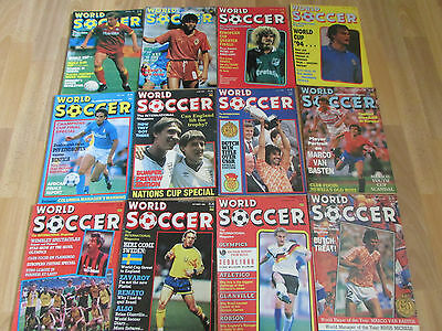 World Soccer FOOTBALL Magazine Complete set of 12 Issues from 1988
