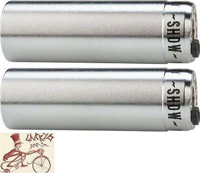 """Shadow Conspiracy 4"""" Little Ones Chrome Bmx Bicycle Pegs--1 Pair"""