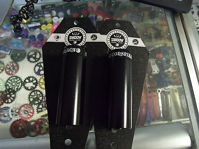 "Shadow Conspiracy 4"" Little Ones 3/8""-14Mm Axle Black  Bicycle Pegs--1 Pair"