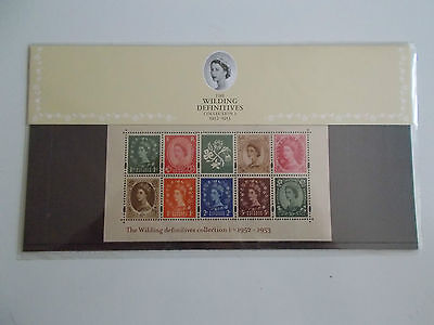 GB QEII 2002 Wilding Collection Miniature Sheet I Presentation Pack 59 Cat £100